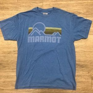 Marmot Men's Blue T-shirt Size Medium